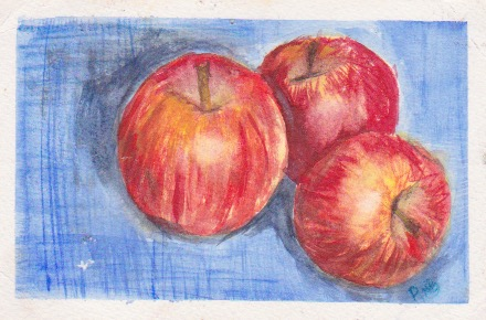 Apples Watercolor by Rachel Blackmon