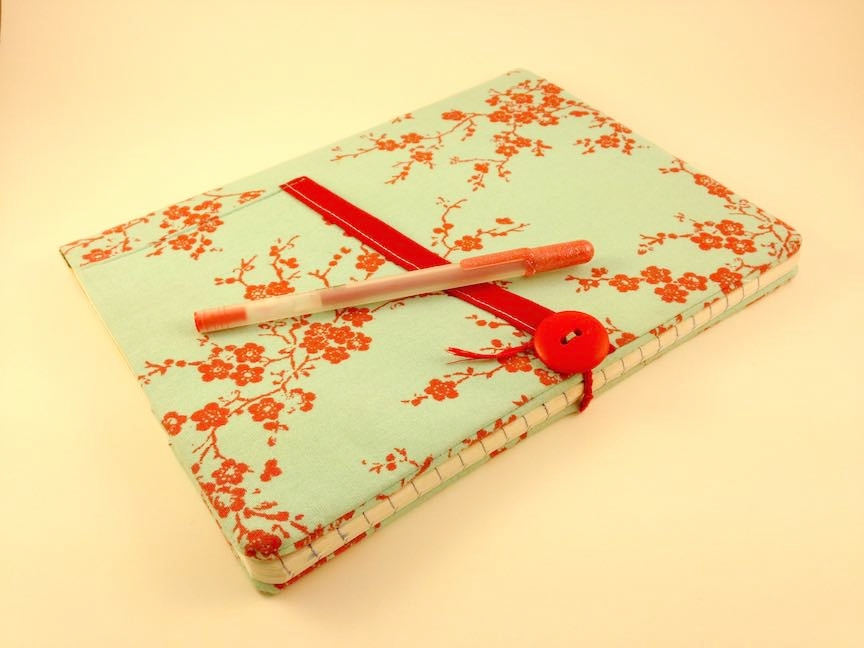 Make a journal cover! - It's the perfect way to practice sewing crisp corners.