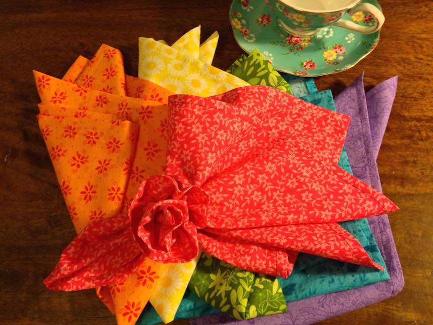 Make some tea napkins! - Practice top stitching and dress up your table.