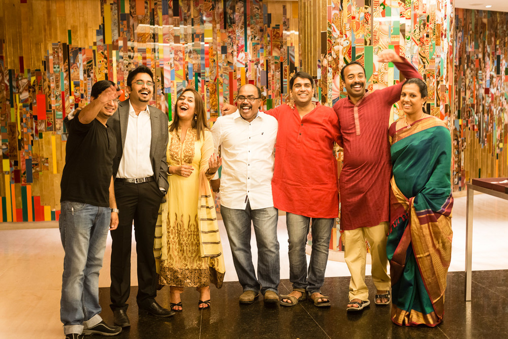 A cool group shot a Wedding Reception at Hyatt, Chennai.