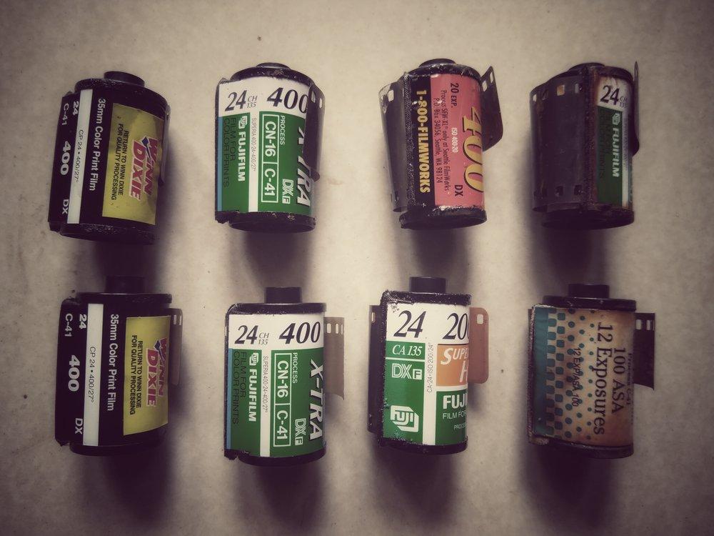 Film Rolls from Makka's refrigerator