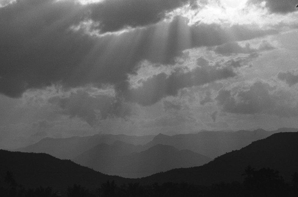 View of Western Ghats from Sathyamangalam  Film: Kodak TMax 400 Camera: Pentax K1000 Lens: SMC 28 mm f/2.8