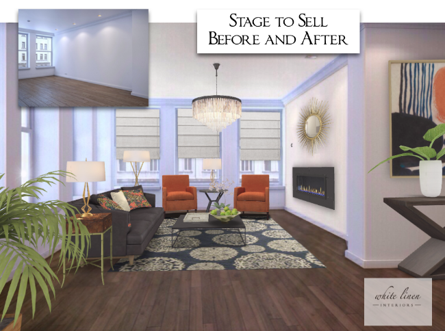 Design Concept Stage to Sell Before and After