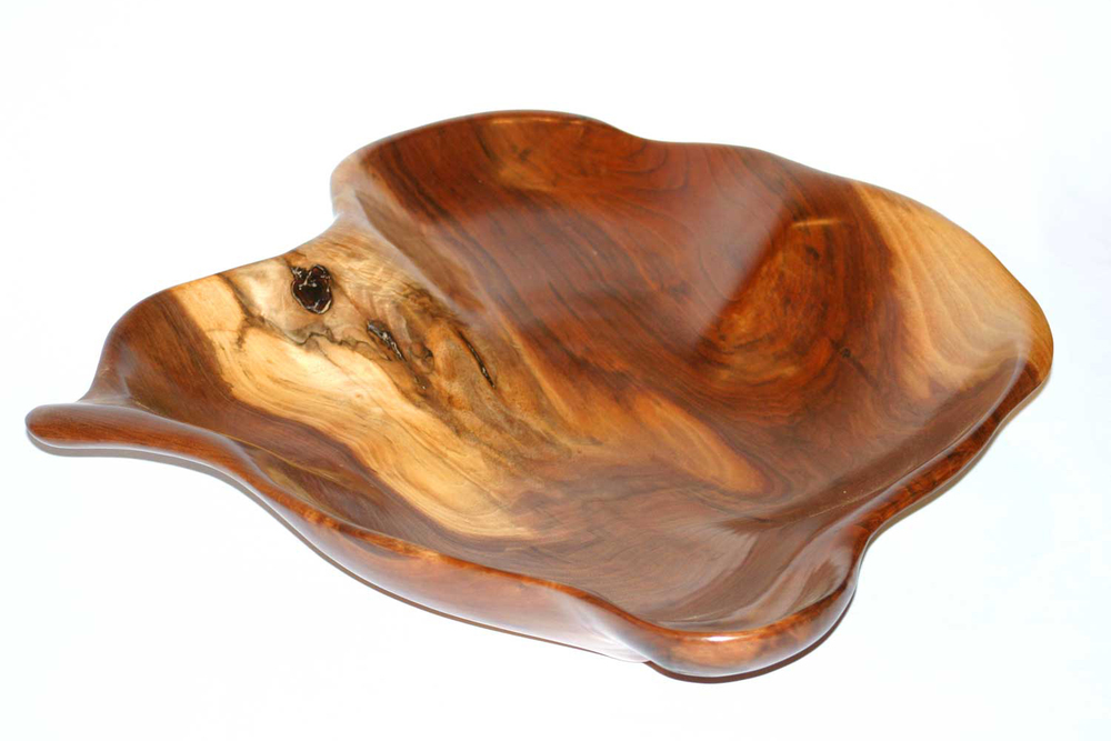 Black walnut wood bowl - free form