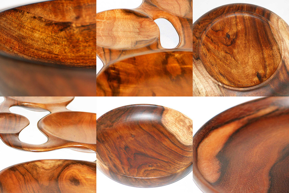 Koa Wood Bowls and Plates