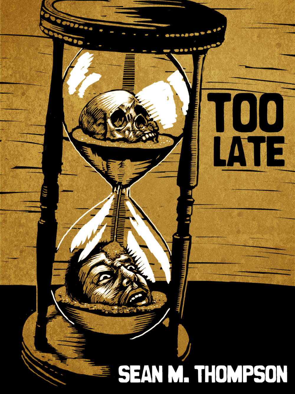 'Too Late' by Sean Thompson, promo art (McManbeast Books, 2016)