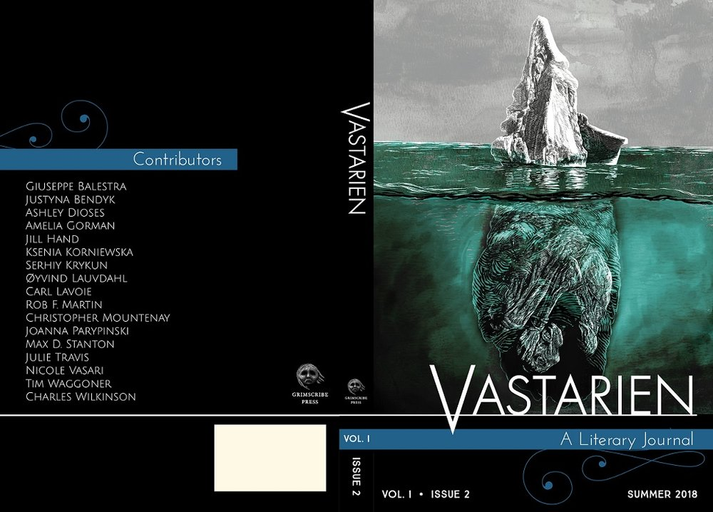 'Vastarien, Vol. 1, Issue 2' cover (Grimscribe Press, 2018)