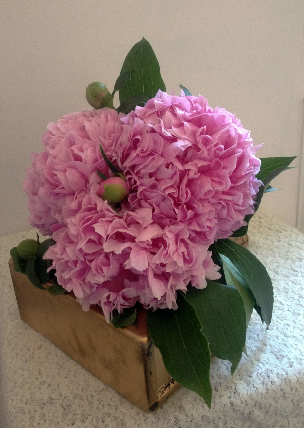 Peony Bouquet frontal view
