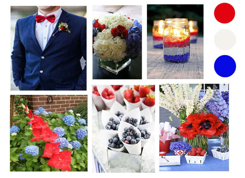 Labor day Mood board: Red White & Blue