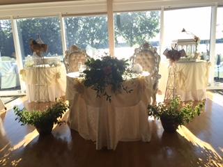 Trellises at the reception
