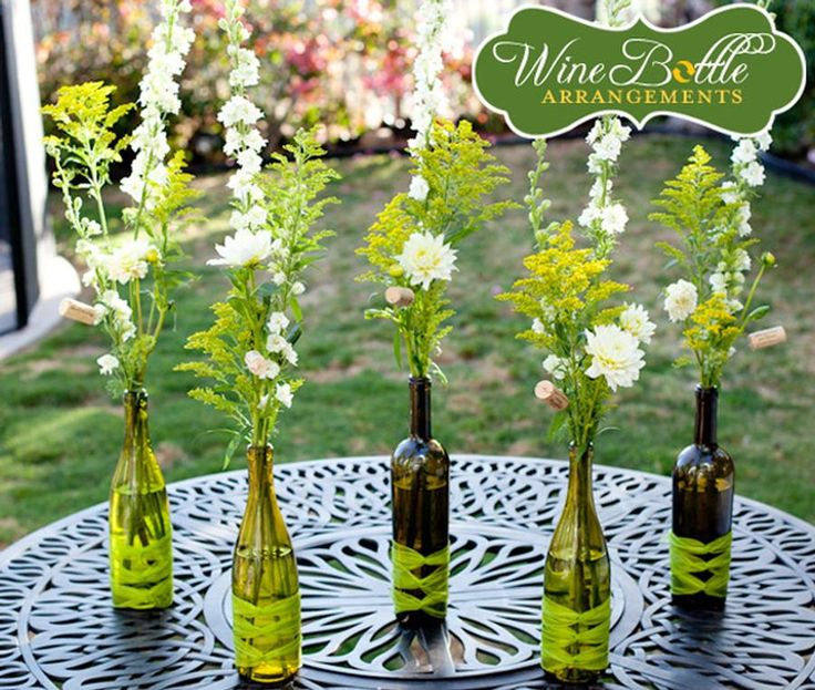 From Fab Art DIY. They have amazing designs with wine bottles.