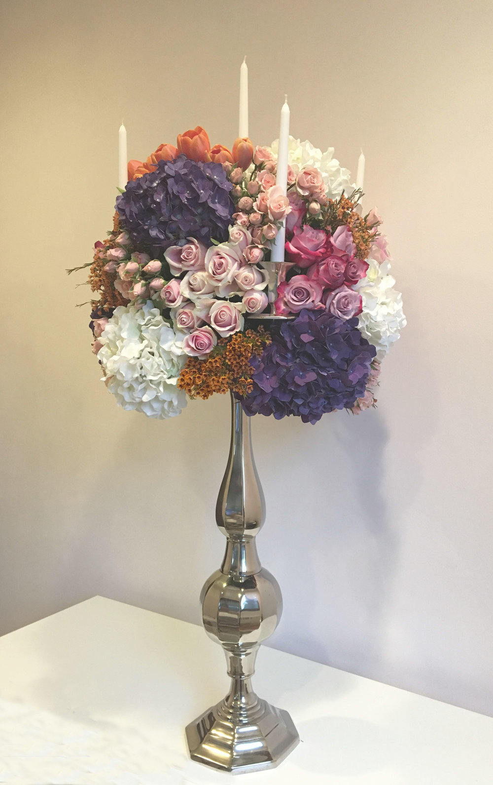 Evelisa Floral & Design: candelabra arrangement