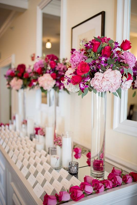 Evelisa Floral & Design: Escort Table design