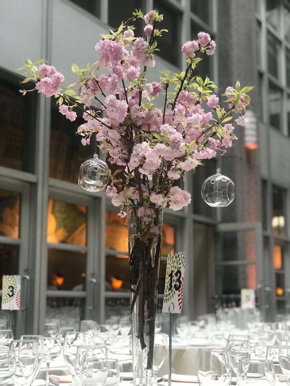 Evelisa Floral & Design_Cherry Blossom centerpiece.JPG