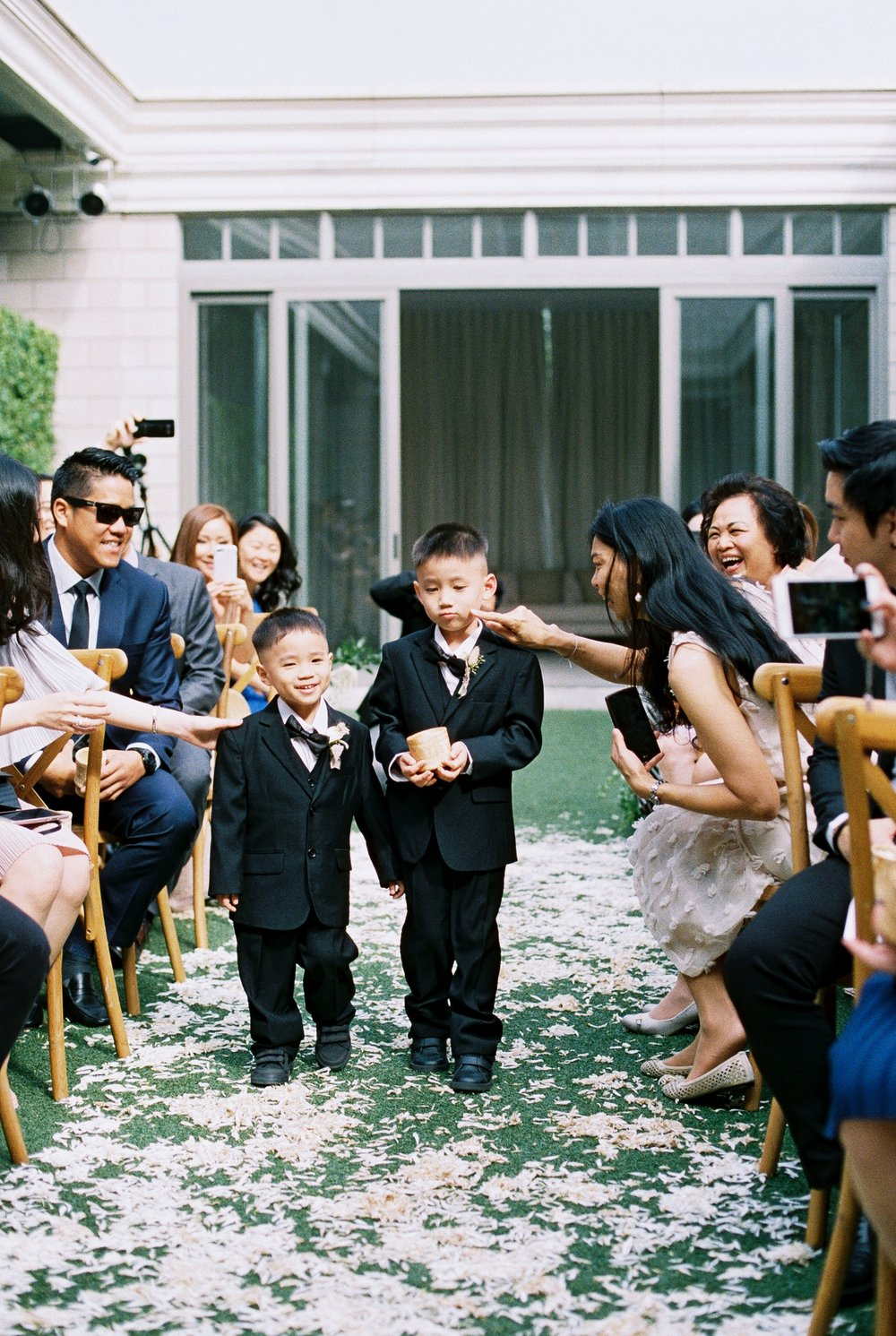 cute asian ring bearers