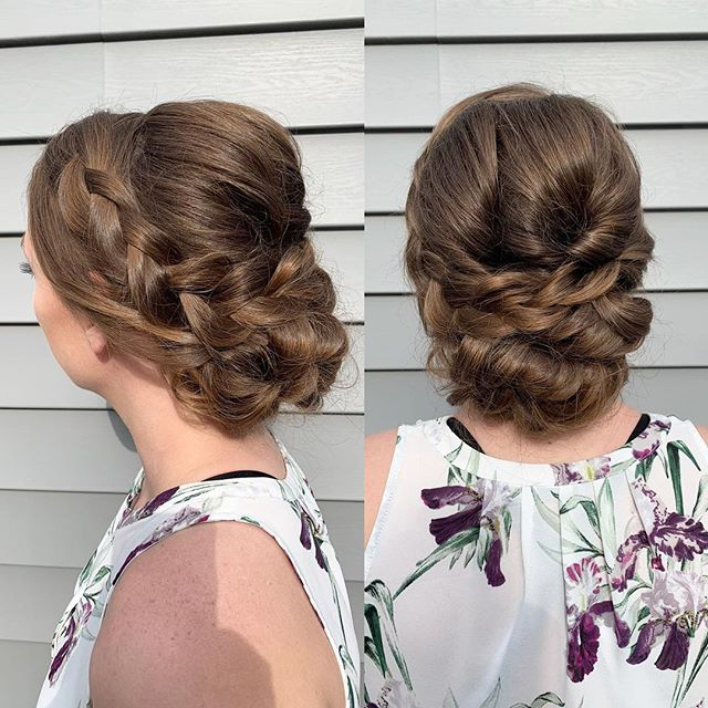 """Real talk: I'm so bad at thinking of clever captions for Instagram. I feel like all my captions are different variations of """"romantic bridal updo"""". Anyway, here is an updo from one of my trial runs today! ✨✨"""