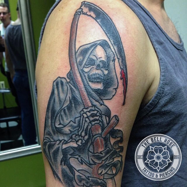 Ted coburn tattoo shops i the bell rose tattoo for Tattoo shops in mobile al