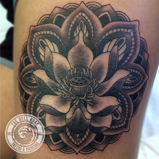 Billy Jordan Red Tide Tattoo Lotus Mandala The Bell Rose Tattoo And Piercing Mobile Alabama