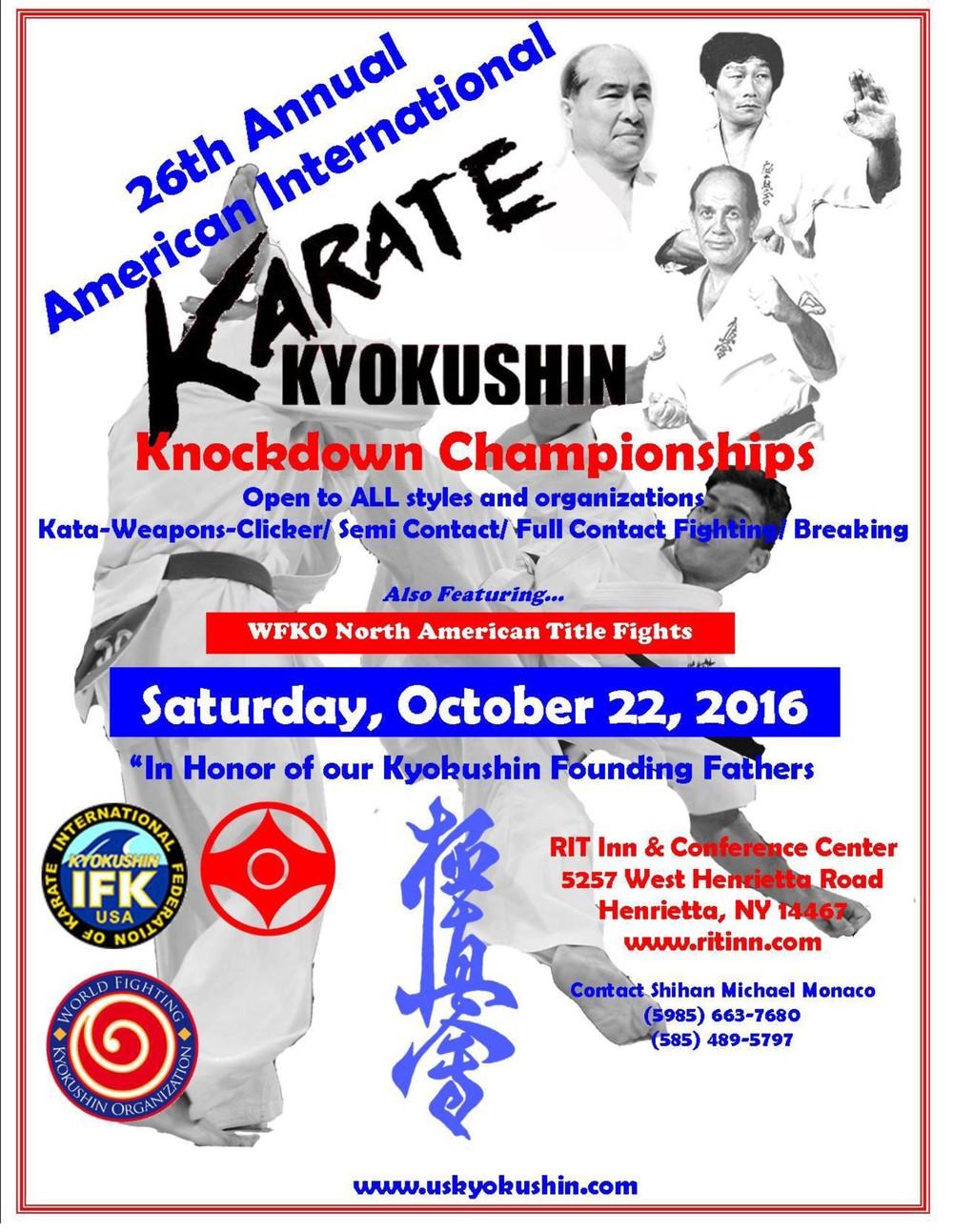 26th American International Karate Championships 2016 ...