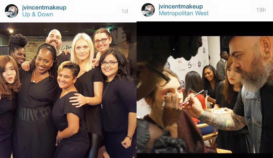 Photo Source: jvincentmakeup (話說JV老大百年難得一見PO了彩妝團隊的合照還標記我們每個彩妝師,結果我不小心露出這個怪臉,從此都會以這張醜臉在他超高人氣的Instagram留名青史了….)