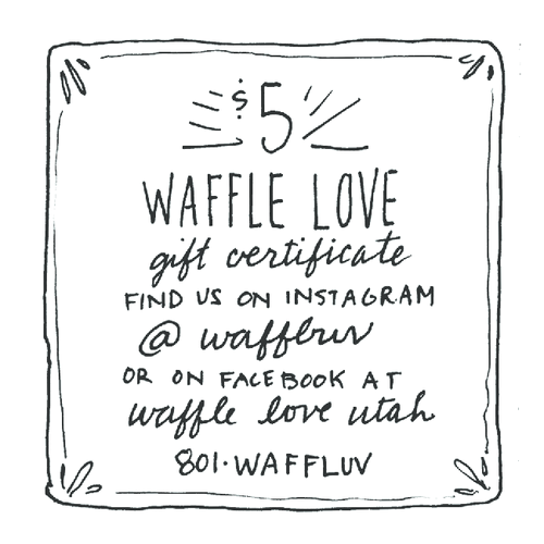 gift certificates waffle love