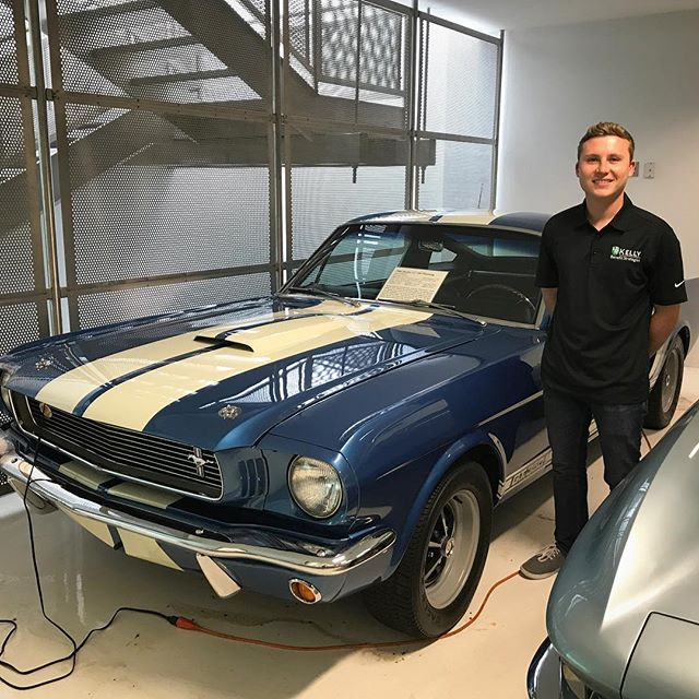 Had the chance to check out an awesome car collection today here in Maryland.  Spotted this perfect condition 1966 Shelby GT350 Mustang. Will be pretty cool to see when the Mustang is raced at the Cup level in 2019. #NASCAR