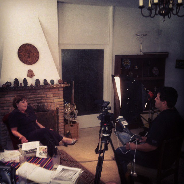 Interview shoot in Jerusalem - April,  2013 #documentary #josearturocastellanos