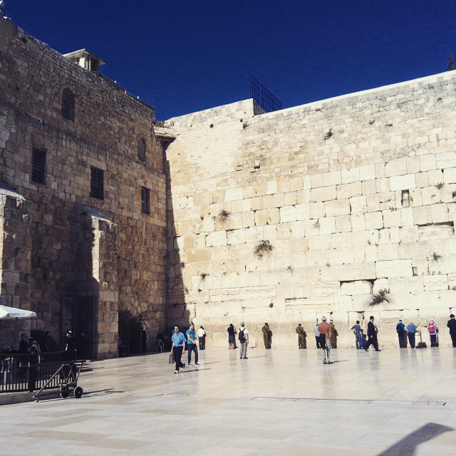 Taking in the sights while filming in #jerusalem - Spring 2013 #westernwall #israel
