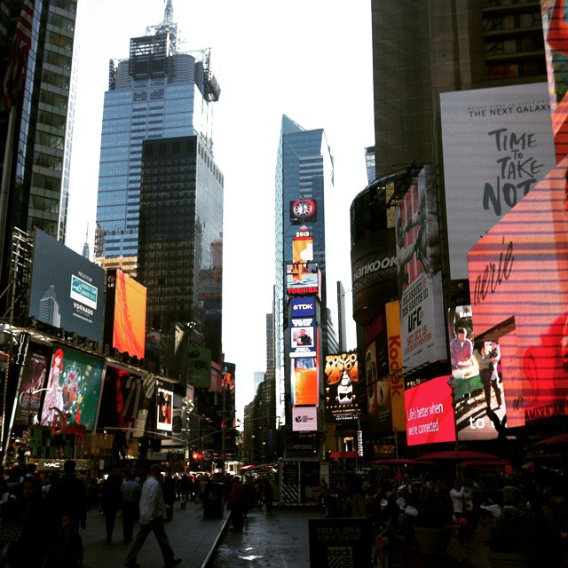 #timessquare ! - Filming in NYC - October 2013