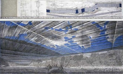 Concept Sketch for Christo's Over The River