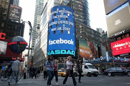 Facebook's first day trading on the NASDAQ
