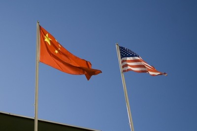 China-US Flags