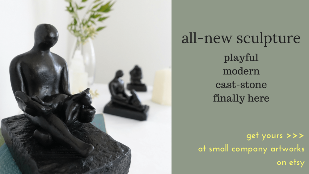 New cast-stone sculpture from Small Company Artworks