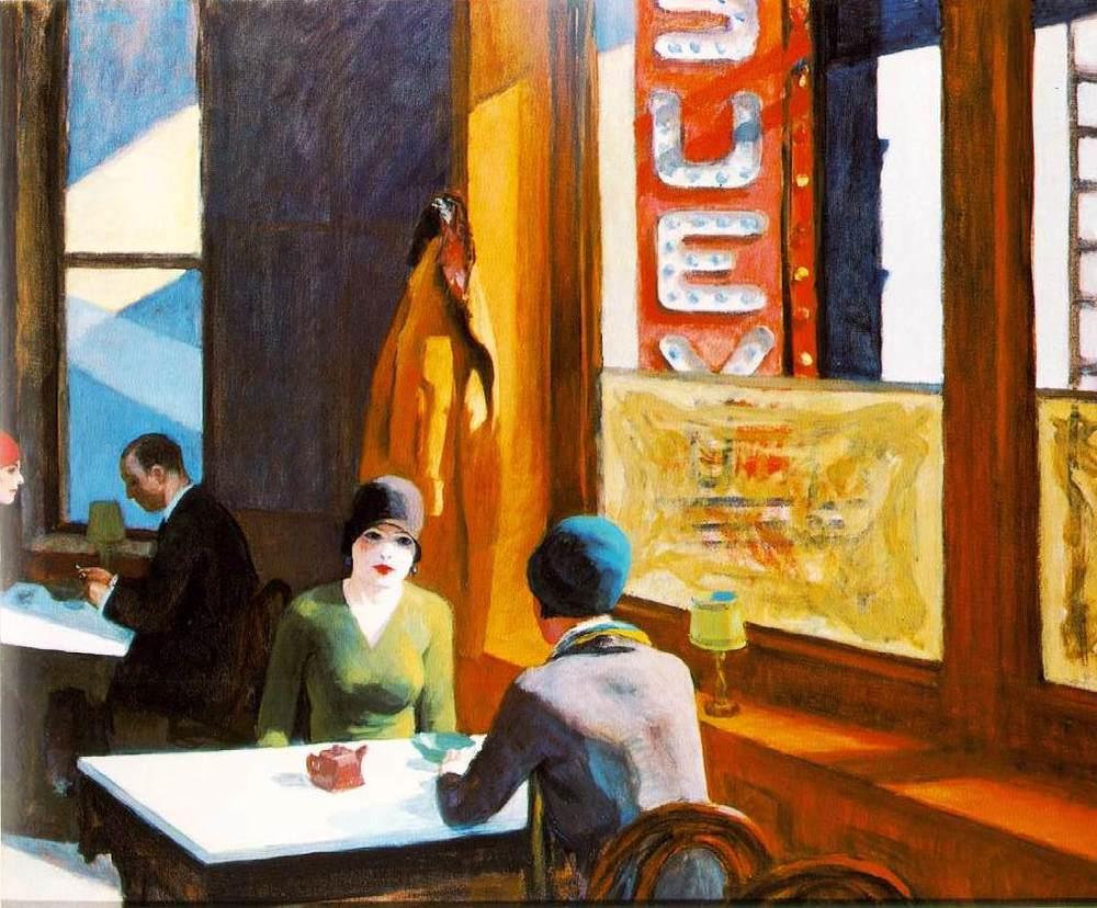 """""""Chop Suey"""" by Edward Hopper, 1929"""