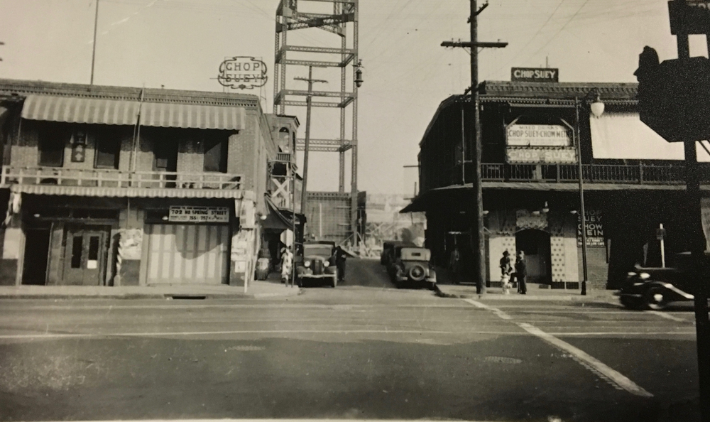 Los Angeles Chinatown in 1934