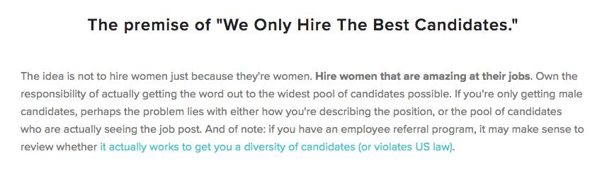 hire more women in tech