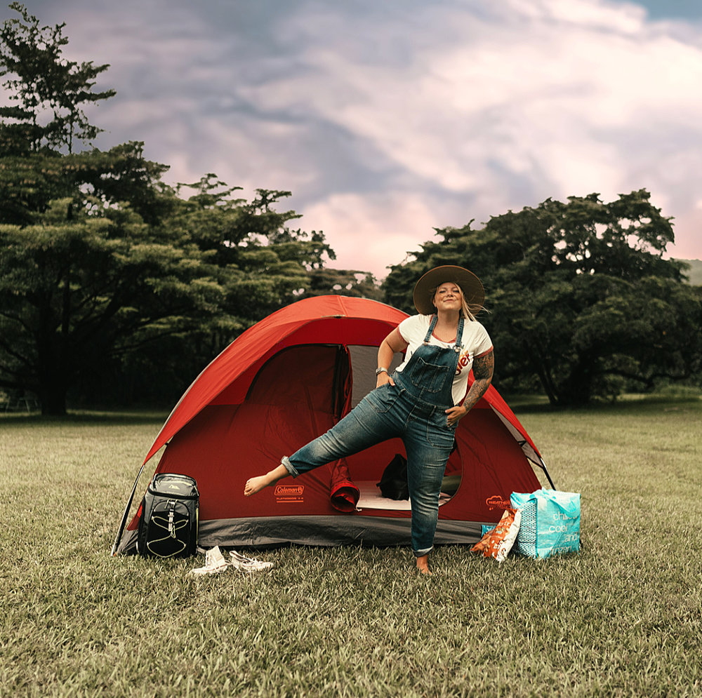 Camping in Oahu -