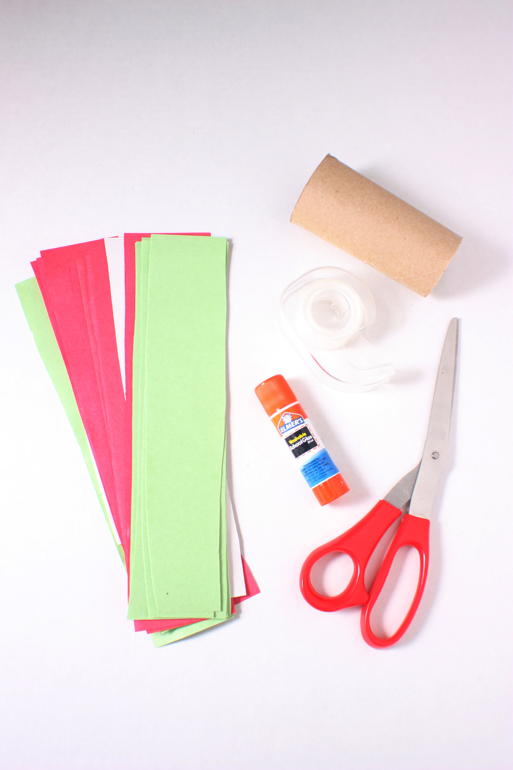 Supplies: Paper strips Paper rolls Glue or Tape Scissors