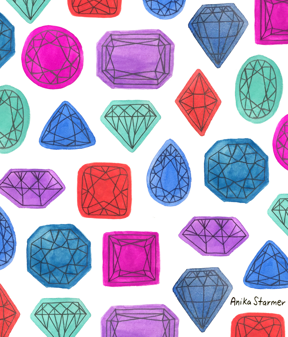 Gem pattern from #patternjanuary ©anikastarmer