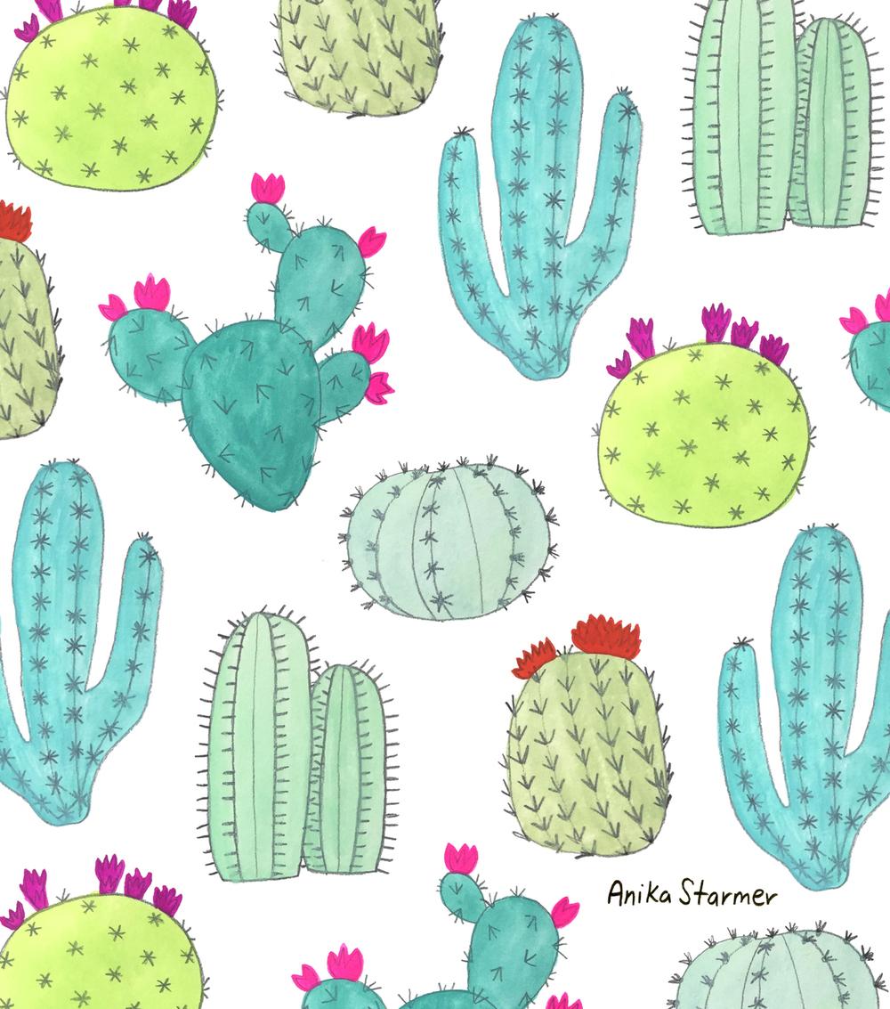 Cactus pattern from #patternjanuary ©anikastarmer
