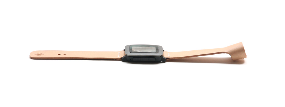 Pebble watch leather band