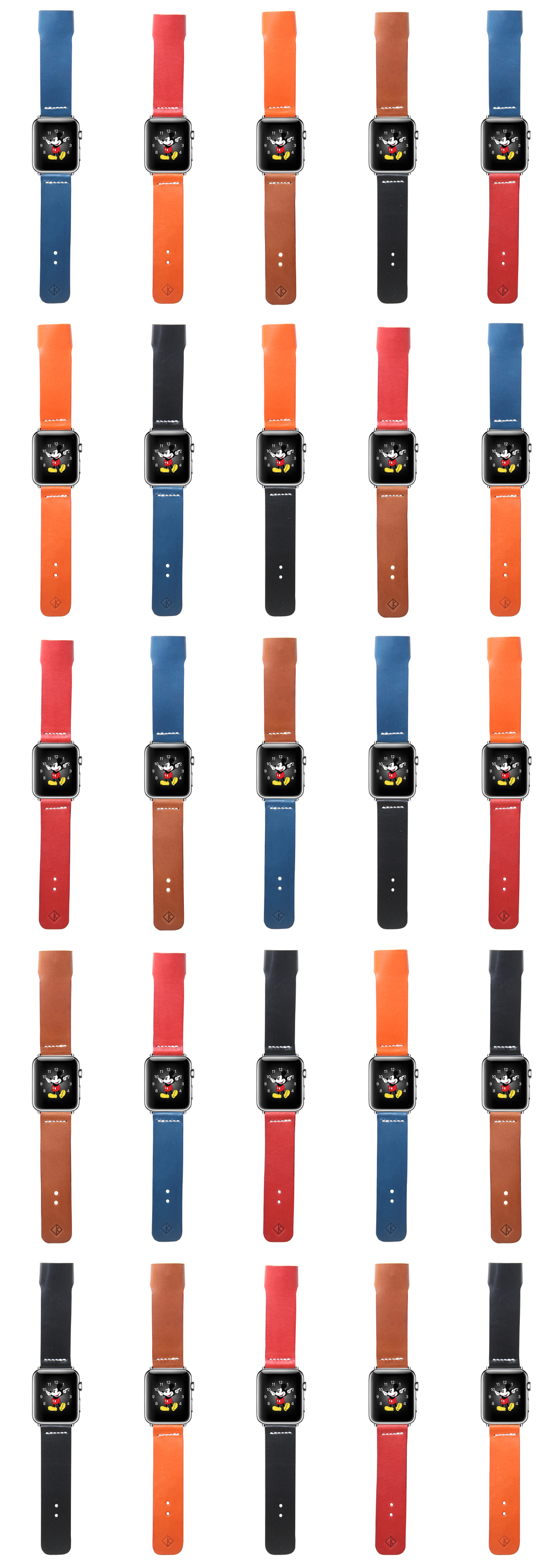 Apple Watch leather band mix it up