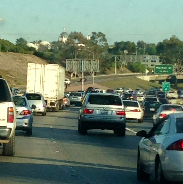 Like this traffic on the 805 en route to Chula Vista...
