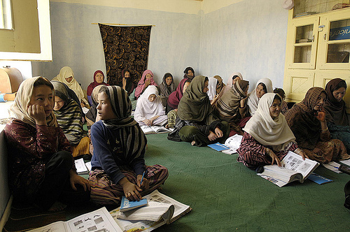 Afghan women participate in Free and Quality Education Campaign launch.  Photo credit: UN Photo/UNAMA