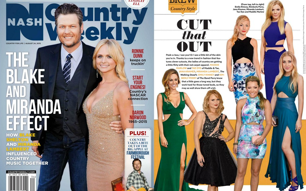 August 2015,  Country Weekly:  Maddie and Tae Red Carpet looks featured.