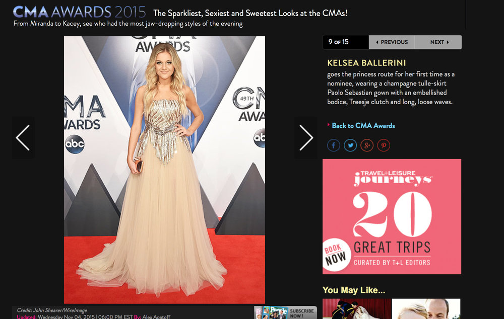 People.com 2015, Kelsea Ballerini Best Dressed, CMA Awards