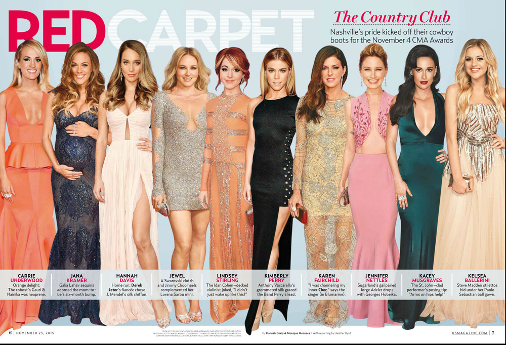 US Weekly, Nov. 23rd issue, CMA Awards Best Dressed, 2015