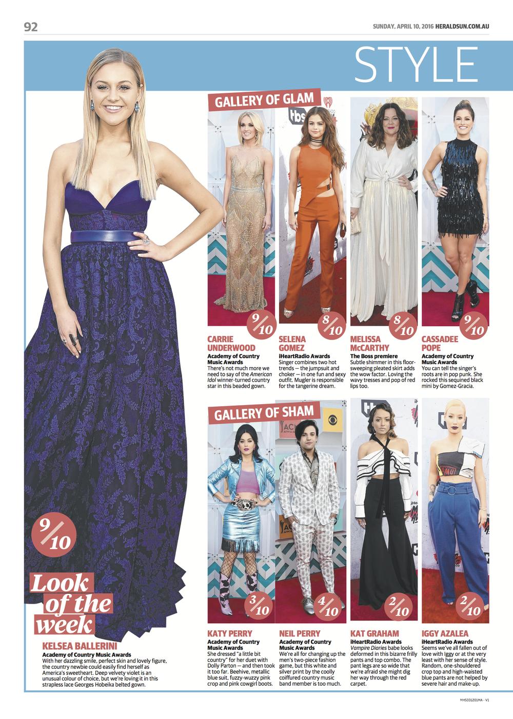 "Herald Sun, Australia, 2016. ""Look of the Week"""