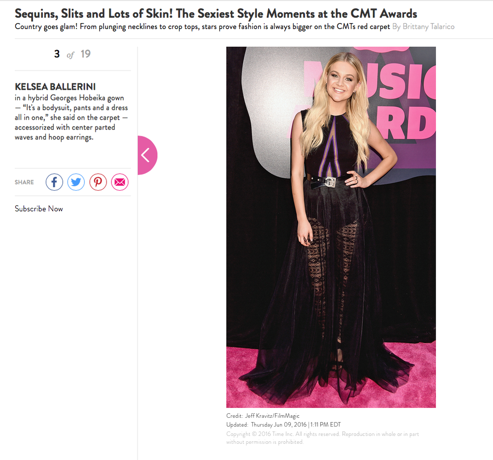 People StyleWatch, 2016, CMT Awards Best Dressed