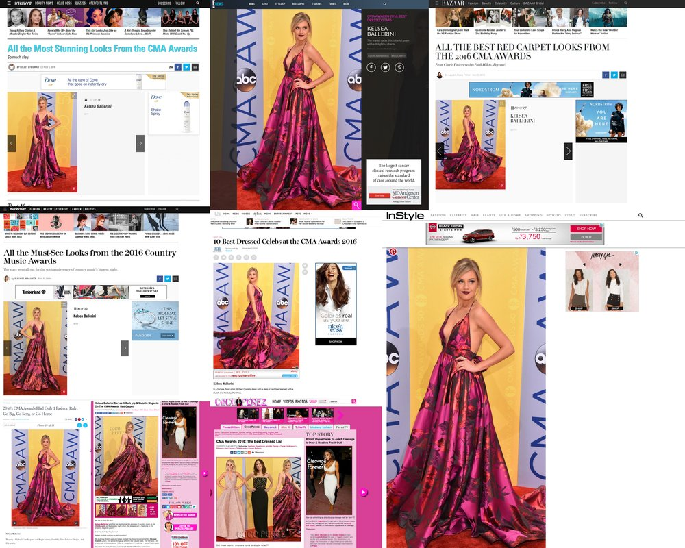 2016 CMA Awards, Kelsea Ballerini.  Best Dressed List @ Seventeen, Marie Claire, Us Weekly, Perez Hilton, Harpers Bazaar, Instyle, People, E! and more...